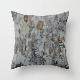 TEXTURES -- California Sycamore Bark Throw Pillow