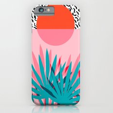 Whoa - palm sunrise southwest california palm beach sun city los angeles retro palm springs resort  Slim Case iPhone 6