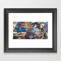 Triangles. Framed Art Print
