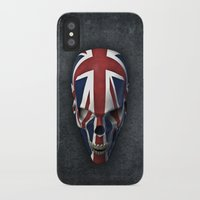 british flag iPhone & iPod Cases featuring British horror by GrandeDuc