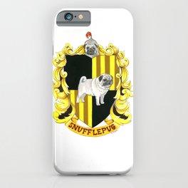 Dogwarts Snufflepug House Banner iPhone Case