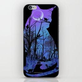 CAT MOON iPhone Skin