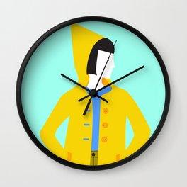 Girl in coat Wall Clock