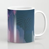 fringe Mugs featuring Pink Fringe by DuckyB