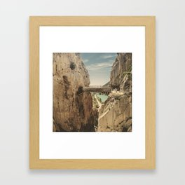 """""""The most dangerous trail in the world"""". El Caminito del Rey Framed Art Print"""