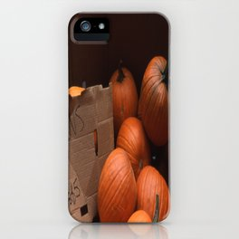 Pumpkins In a Box! iPhone Case