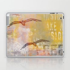 Free bird mixed media artwork Laptop & iPad Skin