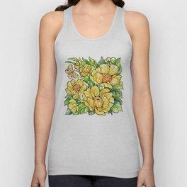 Yellow Flowers Unisex Tank Top