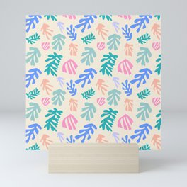 Seaweeds and pastel Mini Art Print
