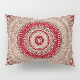 Textured Red Madala Pillow Sham