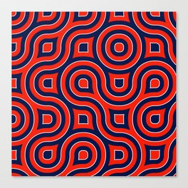 Red Deep blue spirale Canvas Print