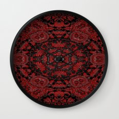 Regal Red Wall Clock