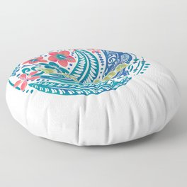 Lahaina Watercolor Whale Floor Pillow