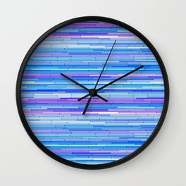 Blue Purple Random Lines Wall Clock