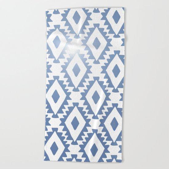 Aztec geometrics - chambray Beach Towel