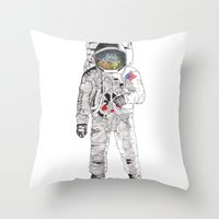 astronaut Throw Pillows featuring Astronaut by James White