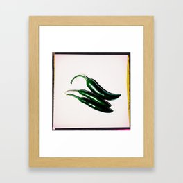 Hot (Peppers) Framed Art Print