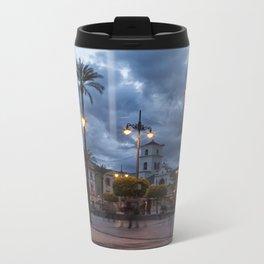 Sundown, Plaza Mayor Merida Spain Metal Travel Mug