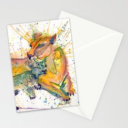 Mommy and Baby Lion Stationery Cards