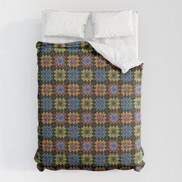 Granny Squares Retro Crochet Afghan Blanket Comforters