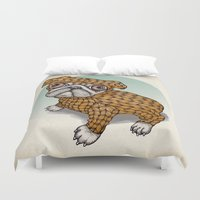 puppy Duvet Covers featuring PUPPY by evafialka