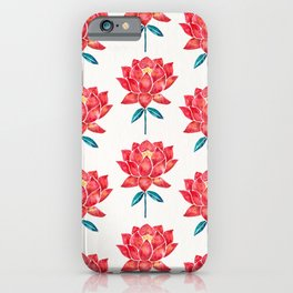 Sacred Lotus – Red Blossom iPhone Case