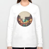portland Long Sleeve T-shirts featuring Portland In The Rain by Laura Ruth