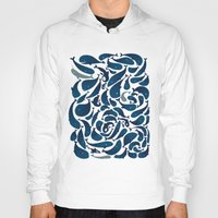 whales Hoodies featuring Whales by Amanda Lima