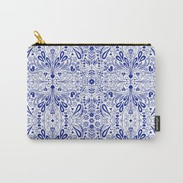 Chinoiserie Folk Seamless Pattern Carry-All Pouch