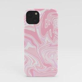 Blush pink & white marble iPhone Case