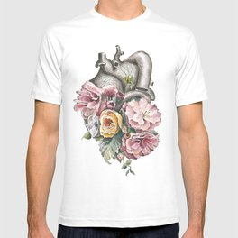 Floral Anatomy Heart T-shirt