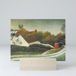 Sawmill, Outskirts of Paris (ca. 1893–1895) by Henri Rousseau. Mini Art Print