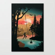 Swing Away Canvas Print