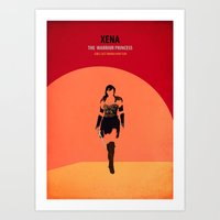 xena Art Prints featuring Xena by Fräulein Fisher