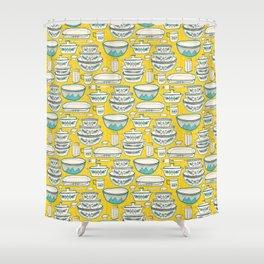 Florence's Retro Vintage Kitchen Shower Curtain