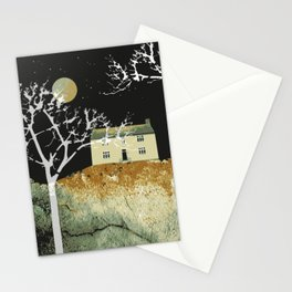 House and moon Stationery Cards