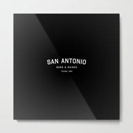 San Antonio - TX, USA (Black Arc) Metal Print