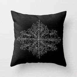 starburst line art - black Throw Pillow