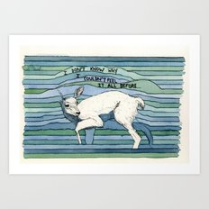 don't know why Art Print