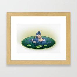Rapunzel Bathing  Framed Art Print