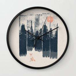 A Fox in the Wild... Wall Clock