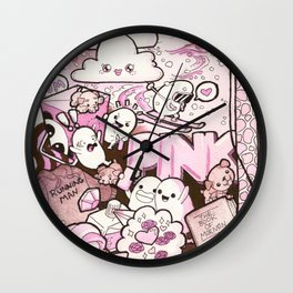 Custom Kawaii Doodle For My Sister Wall Clock