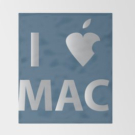 I heart Mac Throw Blanket