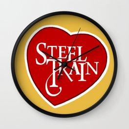 Steel Train Wall Clock