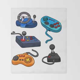 Video Game  Controls Throw Blanket