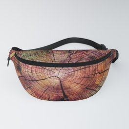 Nature Flow - Modern Pastel Alcohol Ink Wood Fanny Pack