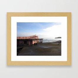 Limonese Seaside Graffiti  Framed Art Print