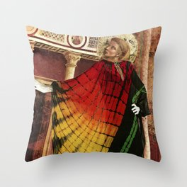 St. Francis of Assisi Modeling Halston Throw Pillow