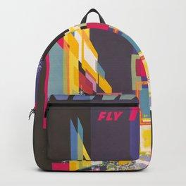 Vintage New York Print Backpack