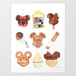 Theme Park Snacks Art Print